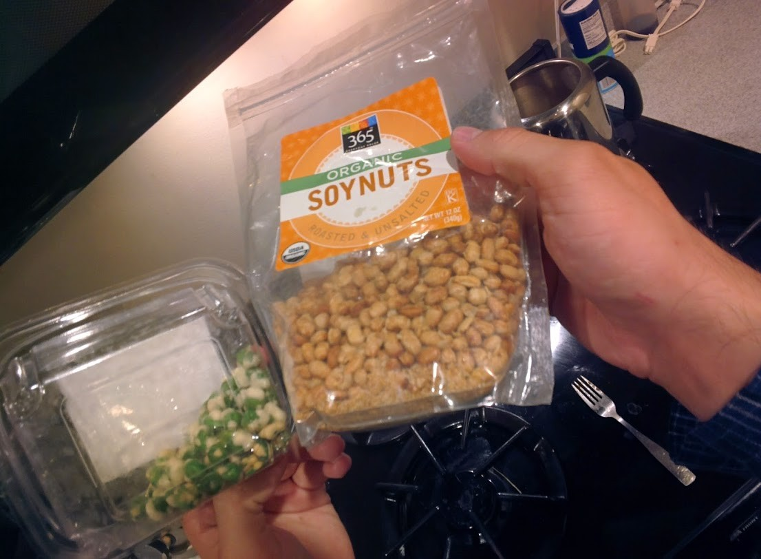 wasabi peas and soy nuts