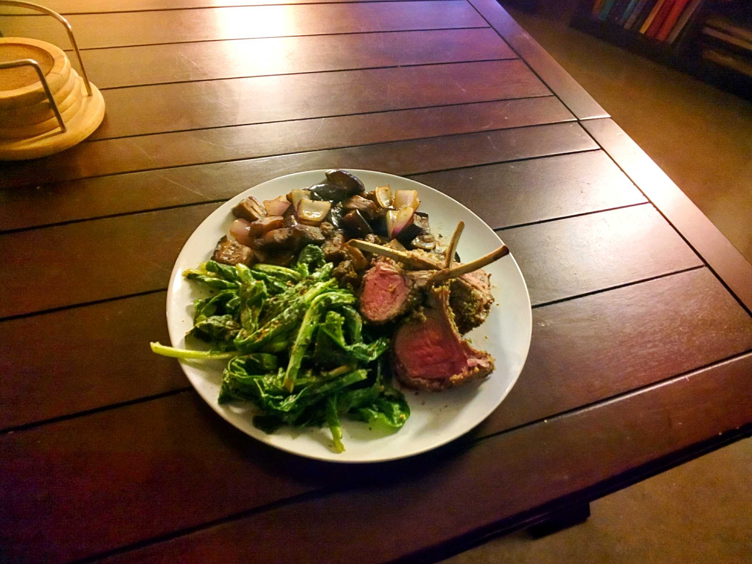 Wasabi Peas & Soy Nut Encrusted Rack of Lamb cover image